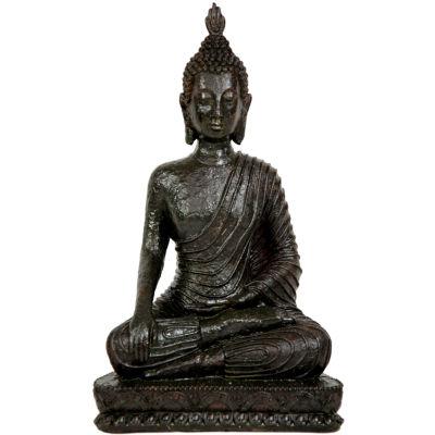 "Oriental Furniture 10"" Laotian Sitting Buddha Figurine"