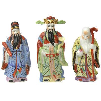 """Oriental Furniture 10"""" Tao Lucky Gods Figurine"""