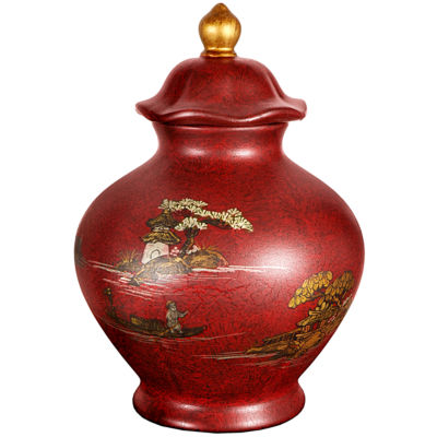 "Oriental Furniture 14"" Vase"