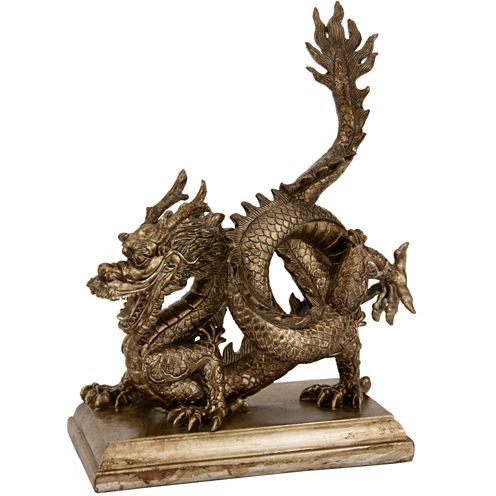 "Oriental Furniture 11"" Chinese Dragon Figurine"