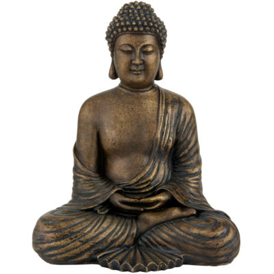 "Oriental Furniture 12"" Japanese Meditating Buddha Figurine"