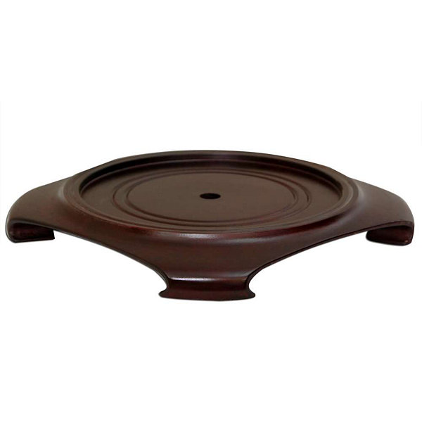 "Oriental Furniture Rosewood 5""  Base Diameter Plant Stand"