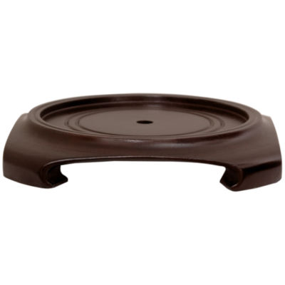 "Oriental Furniture Rosewood 5.5""  Base Diameter Plant Stand"