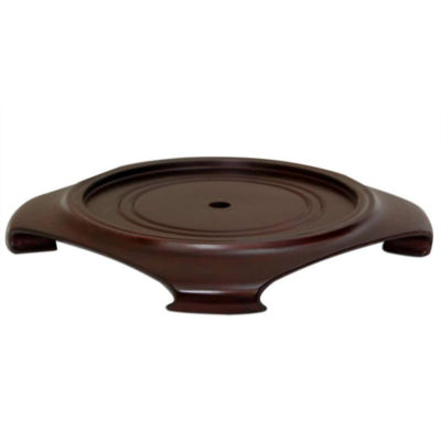 "Oriental Furniture Rosewood 9.5""  Base Diameter Plant Stand"
