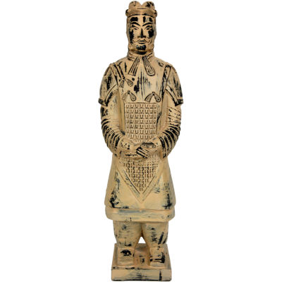 "Oriental Furniture 17"" Xian Tomb Warrior Figurine"