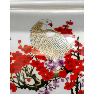 "Oriental Furniture 14"" Cherry Blossom Porcelain Planter"