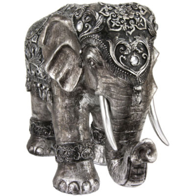 "Oriental Furniture 20"" Auspicious Elephant Figurine"