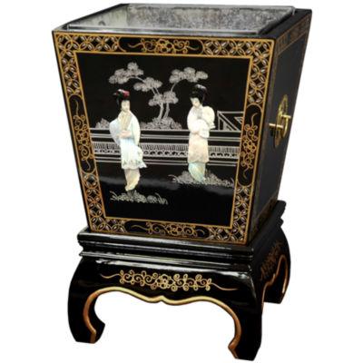 Oriental Furniture Lacquer Planter