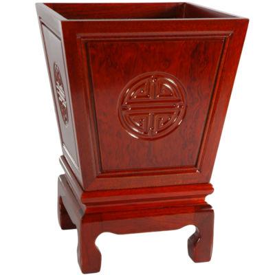 Oriental Furniture Rosewood Long Life Planter