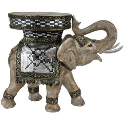 "Oriental Furniture 20"" Standing Elephant Figurine"