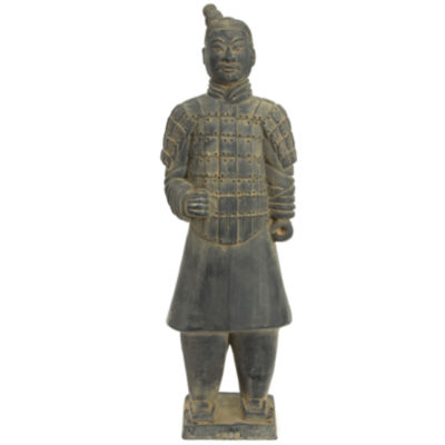 "Oriental Furniture 20"" Xian Terra Cotta Warrior Figurine"