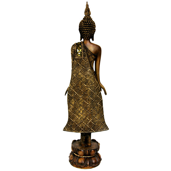 "Oriental Furniture 22"" Standing Thai Buddha Figurine"