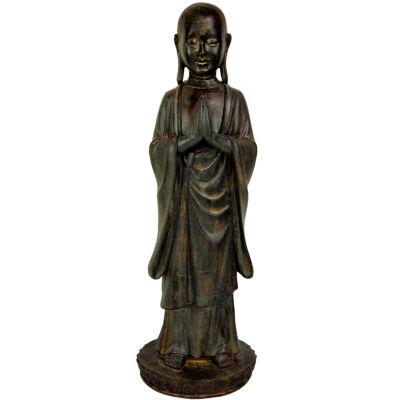 "Oriental Furniture 22"" Standing Japanese Zen Monk Figurine"