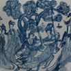 "Oriental Furniture 11"" Ladies Blue & White Porcelain Vase"