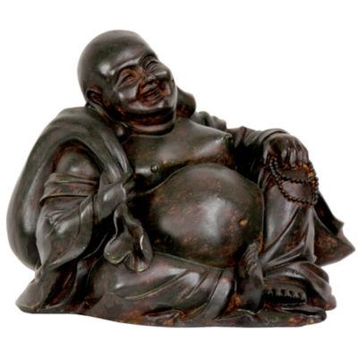 "Oriental Furniture 5"" Sitting Happy Buddha Figurine"