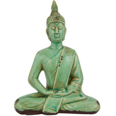 "Oriental Furniture 9"" Thai Sitting Buddha Figurine"