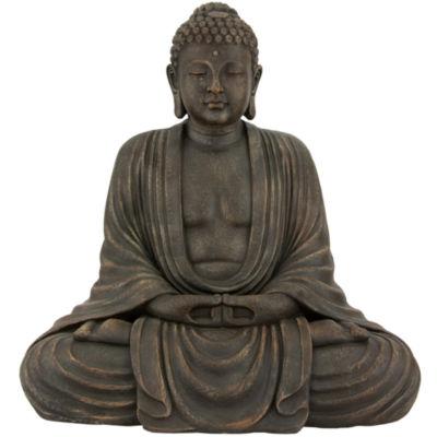 Oriental Furniture Japanese Sitting Buddha Figurine