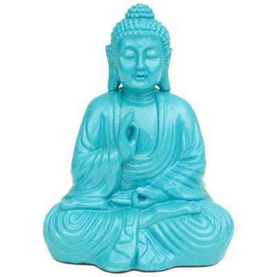 Oriental Furniture Turquoise Buddha Figurine