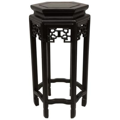 "Oriental Furniture 20"" Hexagon Plant Stand"