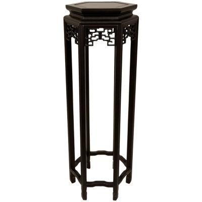 "Oriental Furniture 36"" Hexagon Plant Stand"