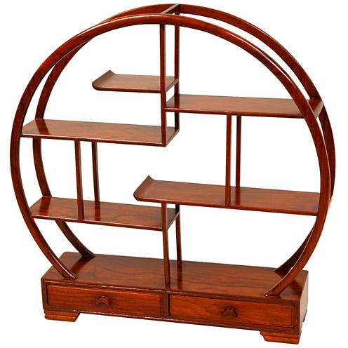 Oriental Furniture Rosewood Mingei Plant Stand