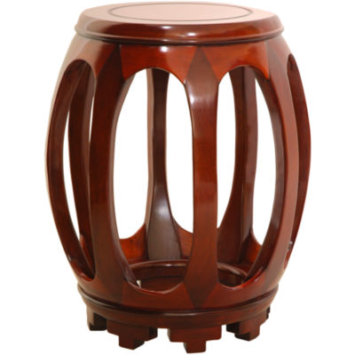 Oriental Furniture Rosewood Circular Plant Stand