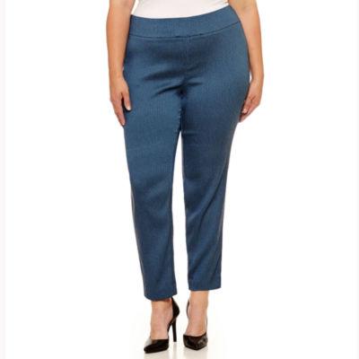 Worthington Skinny Fit Woven Pull-On Pants-Plus