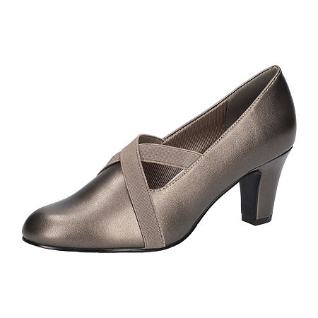 Art Deco Shoes Styles of the 1920s and 1930s Easy Street Womens Zaylee Pumps Stiletto Heel 9 Medium Gray $47.99 AT vintagedancer.com