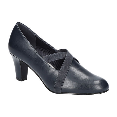 Titanic Edwardian Shoes – Make or Buy Easy Street Womens Zaylee Pumps Stiletto Heel 10 Wide Blue $41.99 AT vintagedancer.com