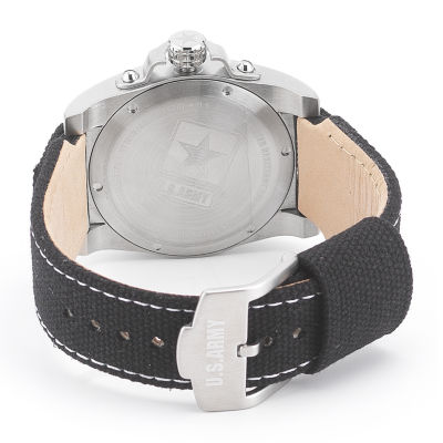 Wrist Armor® C1 Mens US Army Black Canvas Watch