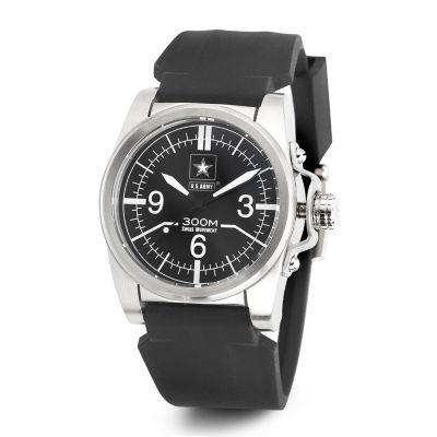 Wrist Armor® C1 Mens US Army Black Silicone Watch