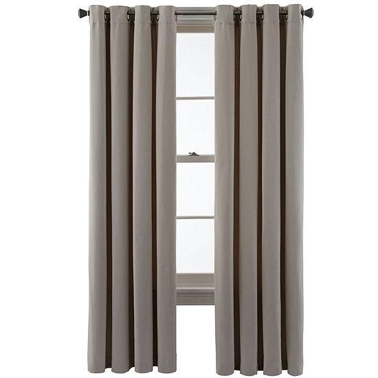 Studio Energy Saving Light-Filtering Grommet-Top Single Curtain Panel