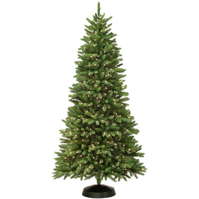 7' Pre-Lit Oakdale Clear Lights Christmas Tree