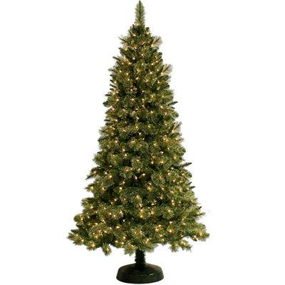 7' Pre-Lit Pembroke Cashmere-Style Clear Lights Christmas Tree