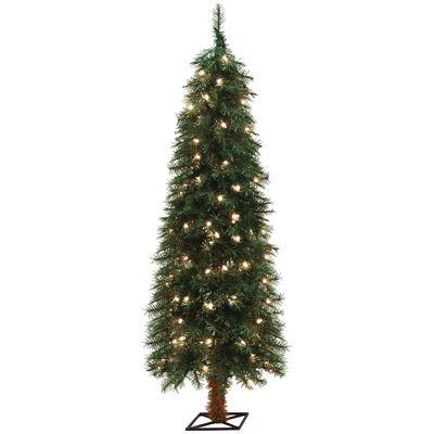 5' Pre-Lit Alpine Clear Lights Christmas Tree