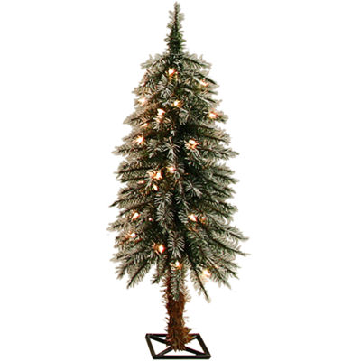 3' Pre-Lit Alpine Clear Lights Frosted Christmas Tree