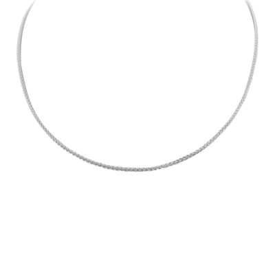 """Made in Italy Sterling Silver 20"""" Wheat Chain Necklace"""