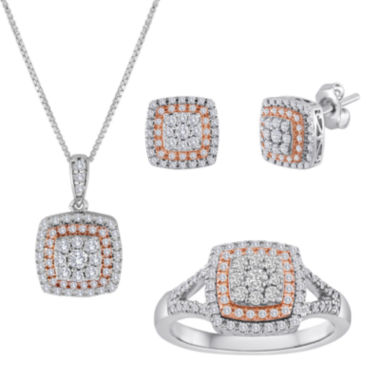 jcpenney.com | 3/8 CT. T.W. Diamond Two-Tone Cushion Jewelry