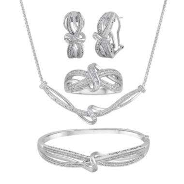 jcpenney.com | 1/10 CT. T.W. Diamond Swirl Knot Sterling Silver Jewelry