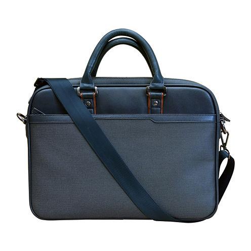 Textured Slim Laptop Bag