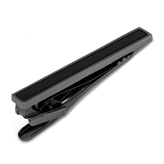 Gunmetal Onyx Inlaid Tie Bar