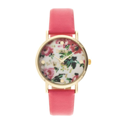 Decree® Womens Print Dial Watch