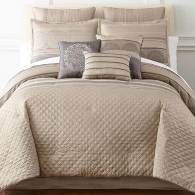 Home Expressions™ Lance Stripe 7-pc. Comforter Set