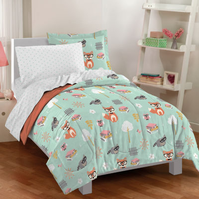 Dream Factory Woodland Friends 5-pc. Twin Complete Comforter Set with Sheets