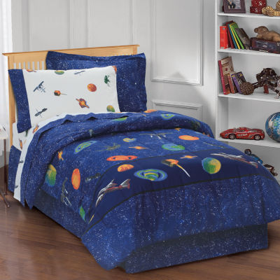 Dream Factory Outer Space Comforter Set