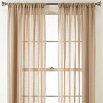 JCPenney Home Sheer Rod-Pocket Single Curtain Panel