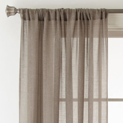 JCPenney HomeTM Quentin Rod Pocket Sheer Curtain Panel