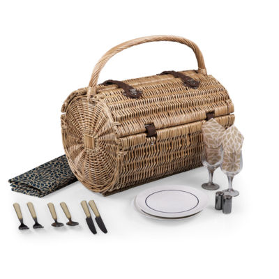 Picnic Time® Barrel Picnic Basket - Dahlia Collection