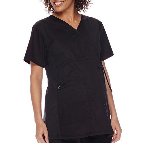 WonderWink® Womens Short-Sleeve Maternity Top - Plus