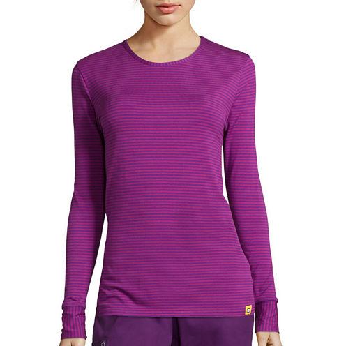 WonderWink® Layers Womens Long-Sleeve Striped Tee - Plus